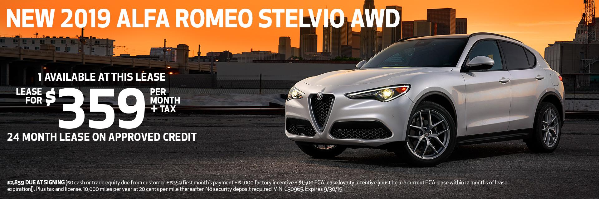 NEW 2019 ALFA ROMEO STELVIO AWD