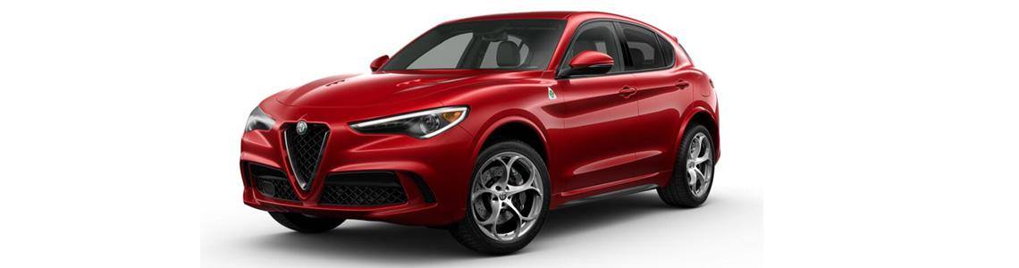 2019 Alfa Romeo Stelvio Quadrifolgio Front Red Exterior