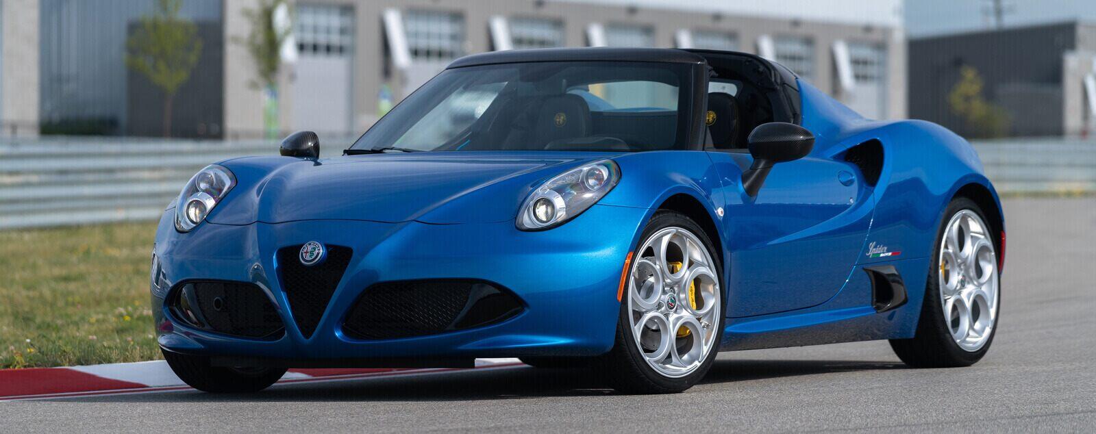 2020 Alfa Romeo 4C Spider Italia Blue Exterior Front