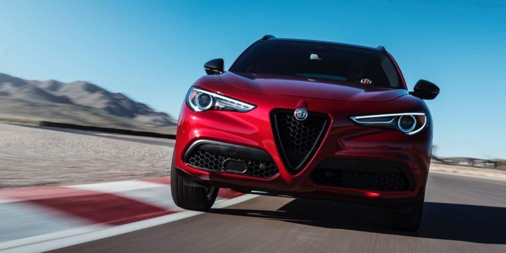 2020 Alfa Romeo Stelvio Red Exterior Front View