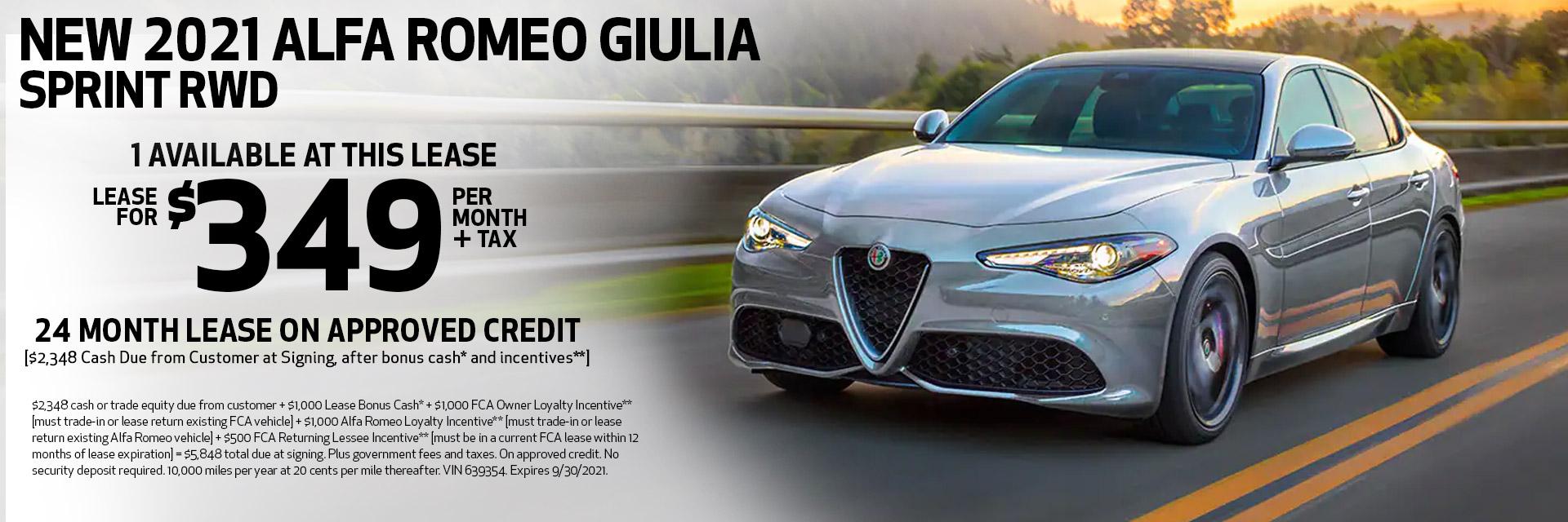 New 2021 Alfa Romeo Giulia Spring RWD