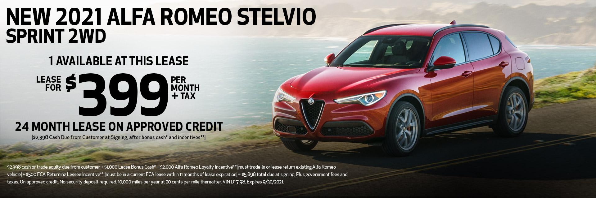 New 2021 Alfa Romeo Stelvio Sprint 2WD